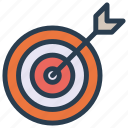 achievement, aim, goal, success, target icon