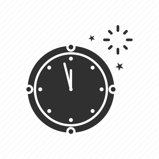 clock, countdown, new year's eve, time icon