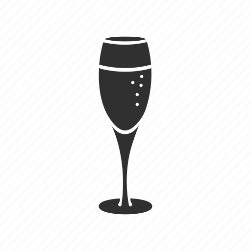 champagne, sparkling wine, wine, wine glass icon