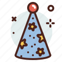 party, hat, holiday, year icon