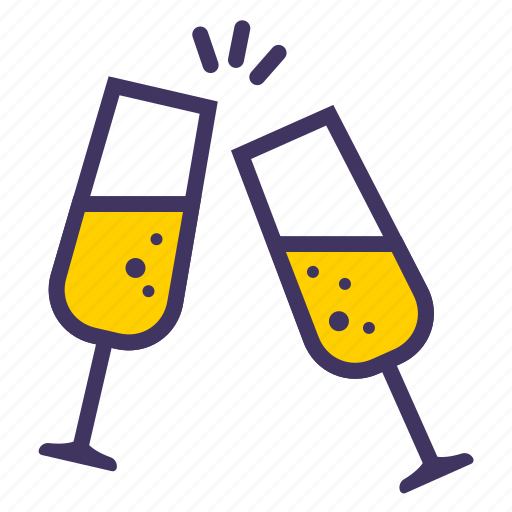 champagne, christmas, new, xmas, year icon