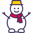 christmas, new, snowman, xmas, year icon