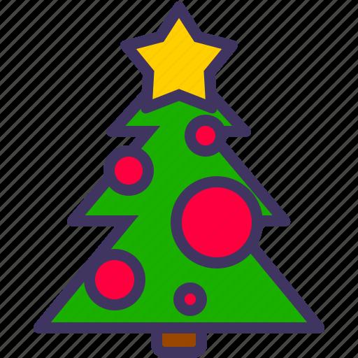 christmas, decoration, new, tree, xmas, year icon