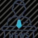 host, man, news, program, tv