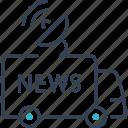 antenna, car, news, transport icon