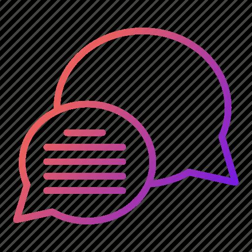 bubble, chat, dialogue, news icon