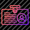 card, id, identity, news icon