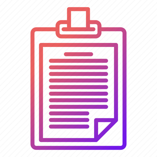 document, interview, news, office icon