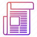 article, document, information, news, newspaper icon