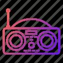 audio, media, news, radio, signal icon