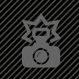 camera, flash, foto, paparazzi, picture, press, shoot icon