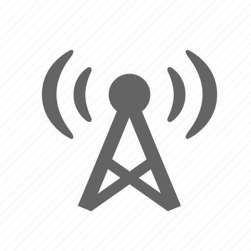 broadcasting, mast, television, tower, transmission, tv, wave icon