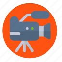 camera, news, on air, record, recording, video icon