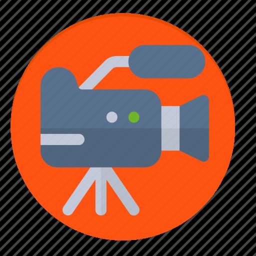 camera, news, on air, record, recording, video icon