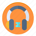 headphones, music, news, sleep, song icon
