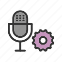 camera, microphone, news, speak, studio, talking, video icon