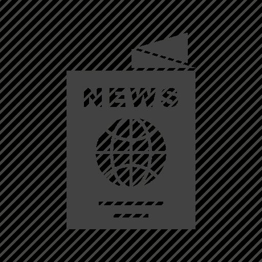 business, global, information, international, media, news, newspaper icon