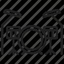 drum set, instrument, drums, musical