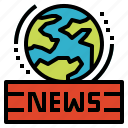 around, communications, newspaper, worldwide icon