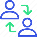 business, economy, exchange people, finance, management, office, teamwork icon