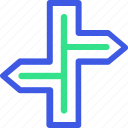 business, economy, finance, management, office, road sign, teamwork icon