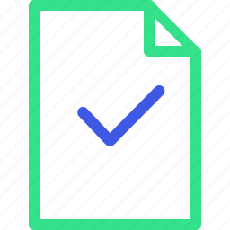 business, checked, economy, file, finance, management, office icon