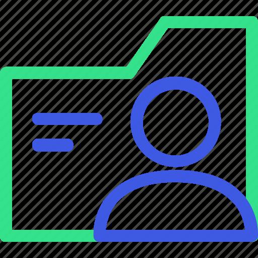 business, economy, finance, folder, management, office, user icon