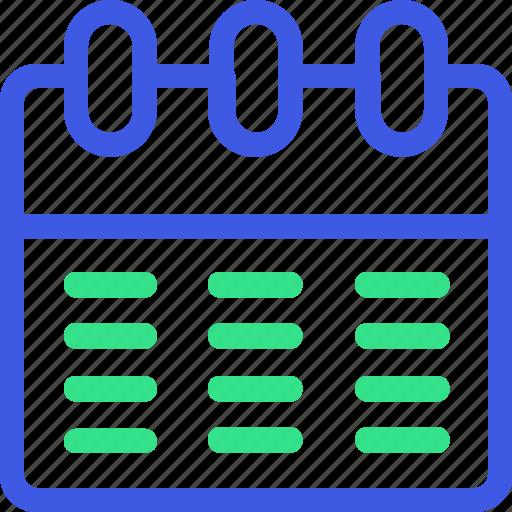 business, calendar, economy, finance, management, office, teamwork icon