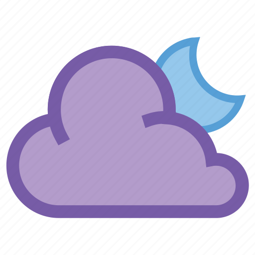 alt, cloud, cloudy, forecast, moon, night, weather icon