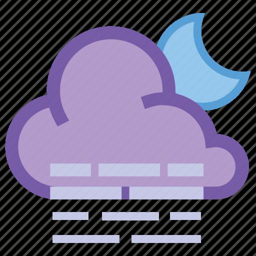 alt, cloud, forecast, haze, moon, night, weather icon