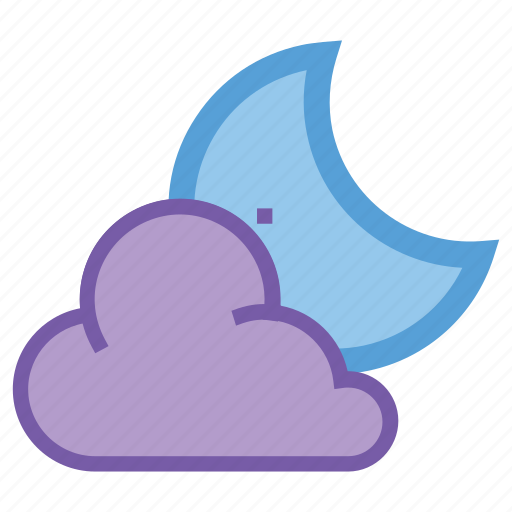 alt, cloud, cloudy, moon, night, partly, weather icon