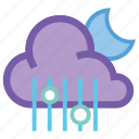 alt, mix, moon, night, rain, rainy, weather icon