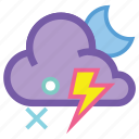 alt, lightning, night, sleet, storm, thunder, wind icon