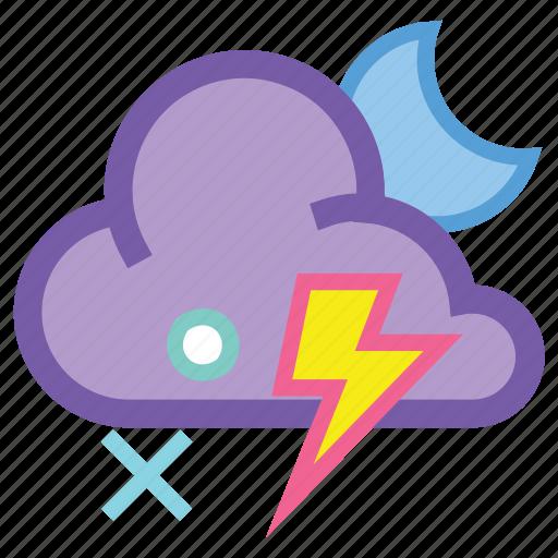 alt, lightning, night, sleet, storm, thunder, wind icon