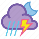 alt, lightning, moon, night, thunderstorm, weather icon