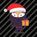 christmas, gift, kind, ninja, santa icon