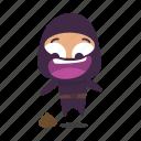 ninja, scared icon