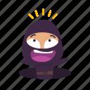 falling, hole, ninja icon