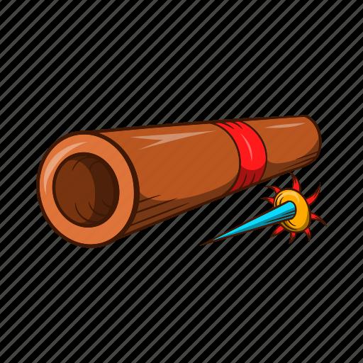 Blowgun, cartoon, japan, japanese, ninja, weapon icon - Download on Iconfinder