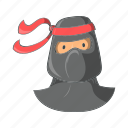 cartoon, character, japanese, mask, ninja icon