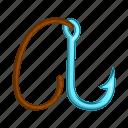 anchor, cartoon, climbing, heavy, hook, ninja, steel icon