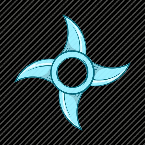 cartoon, ninja, shuriken, star, throwing, weapon icon