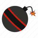 ball, bomb, danger, explosive, fuse, spark, weapon icon
