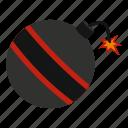 ball, bomb, danger, explosive, fuse, spark, weapon