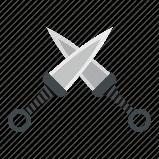 asian, combat, japanese, knife, kunai, traditional, weapon icon