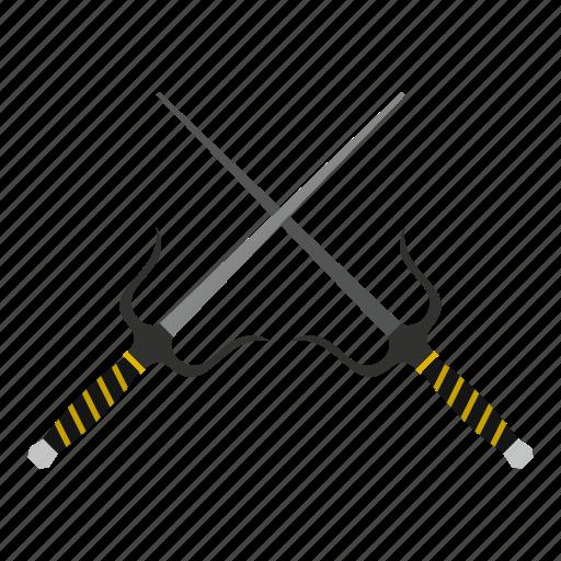 blade, crossed, japanese, ninja, sai, samurai, weapon icon
