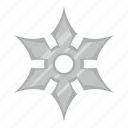 blade, iron, ninja, shuriken, star, throwing, weapon icon