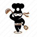 chef, cook, cooking, food, ninja, restaurant icon