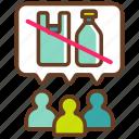 campaing, eco, greenpeace, no plastic, plastic ban, plastic product, social awareness icon