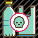 danger, dead, greenpeace, no plastic, problem, toxic, toxic plastic icon